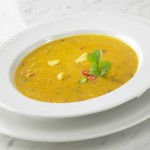 Asian coconut soup Tom Kha with chicken