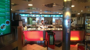 Self-service restaurant on a ferry boat